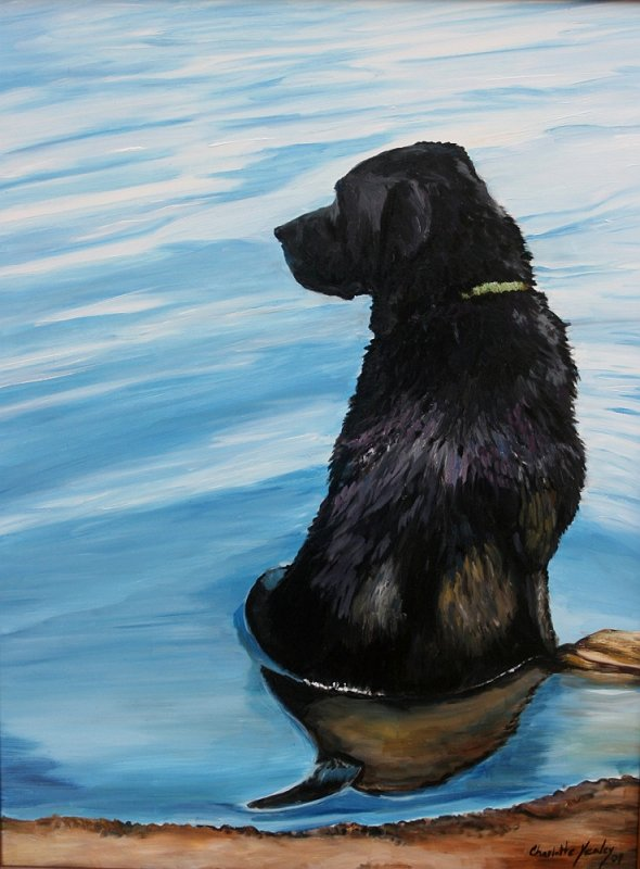 """""""Lab in the Water"""" - oil"""