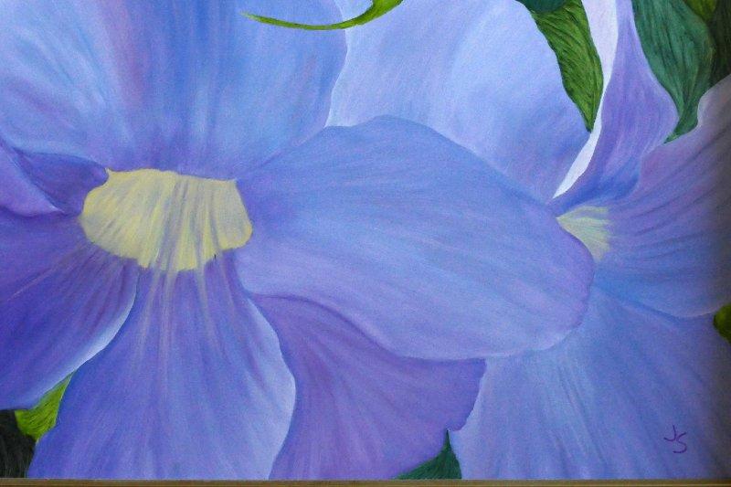 """Lisbon Wildflowers"", Oil, 16x20"
