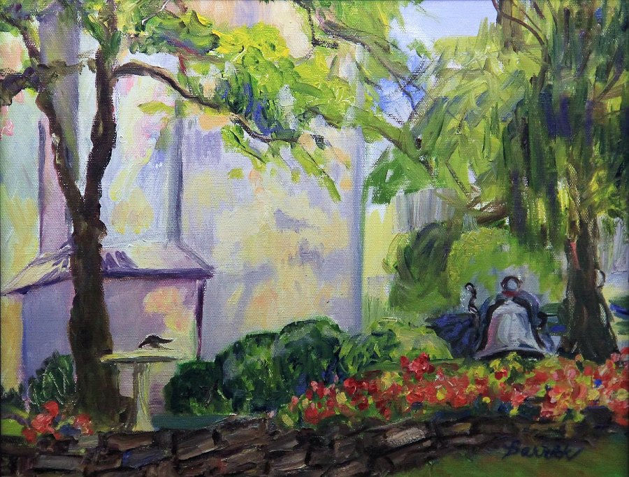 """""""Morning Light at Eisenhower Farm"""", Oil"""
