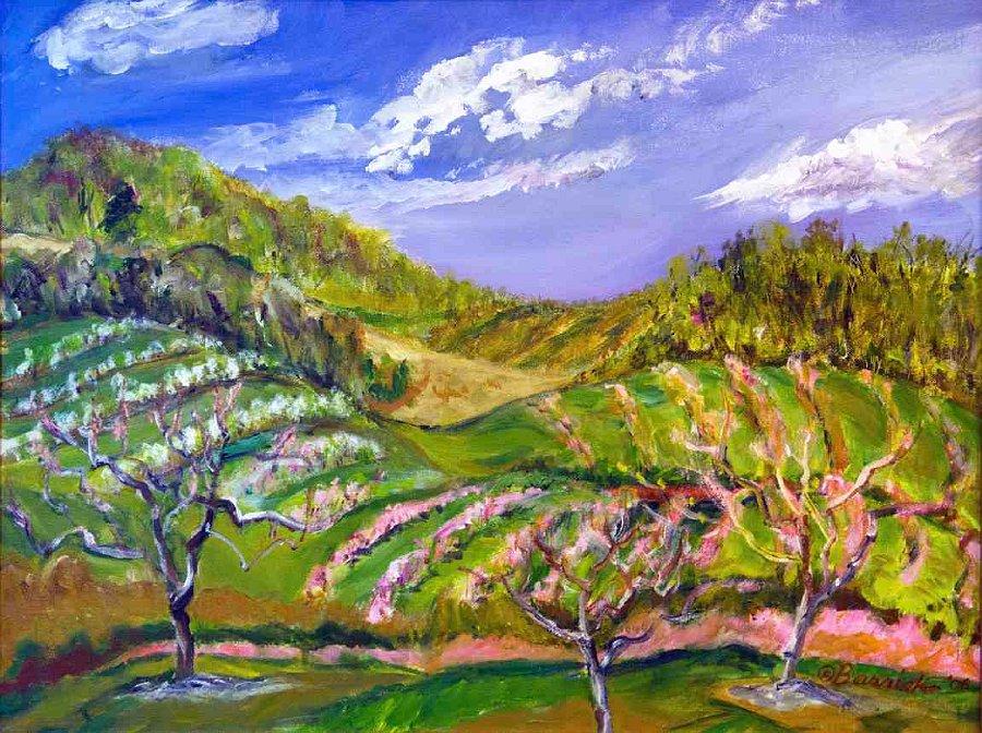 """""""Rolling Hills El Vista"""", Acrylic on canvas"""