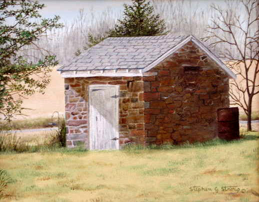 """""""Oxford Road Springhouse"""" - 9x11"""""""