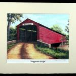 """Peepytown Covered Bridge"" - 11x14"""