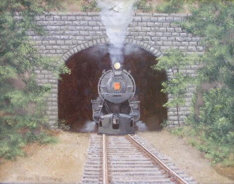 """Pennsy at Howard Tunnel"" - 11x14"""