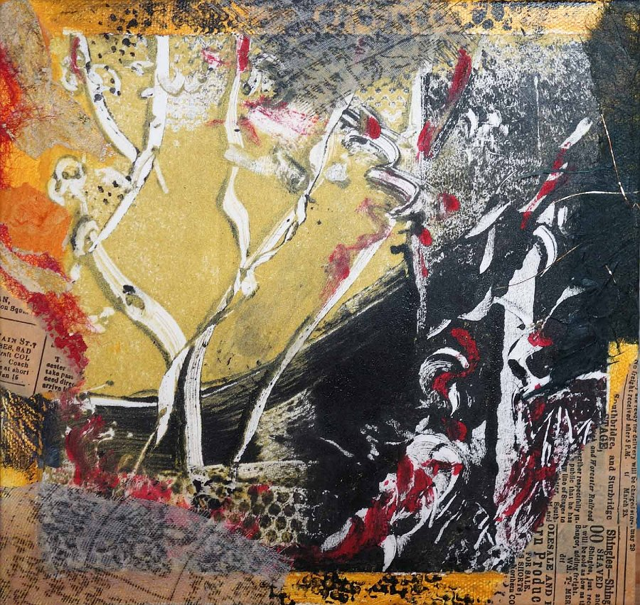 """""""Tibetan Prayer Flag"""", Mixed media on canvas"""