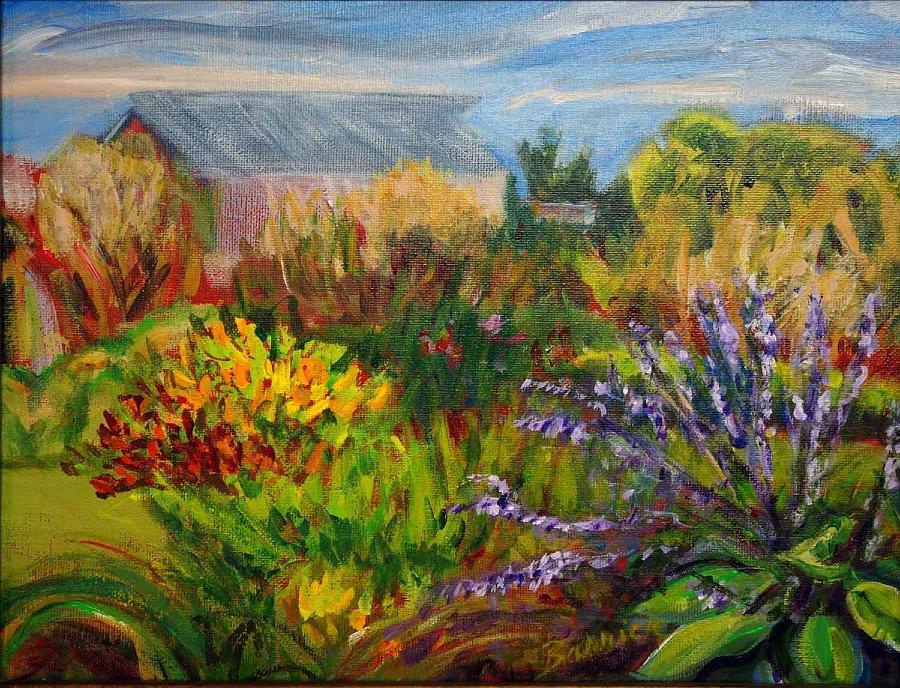 """Rose Hill Garden"", Acrylic on canvas"