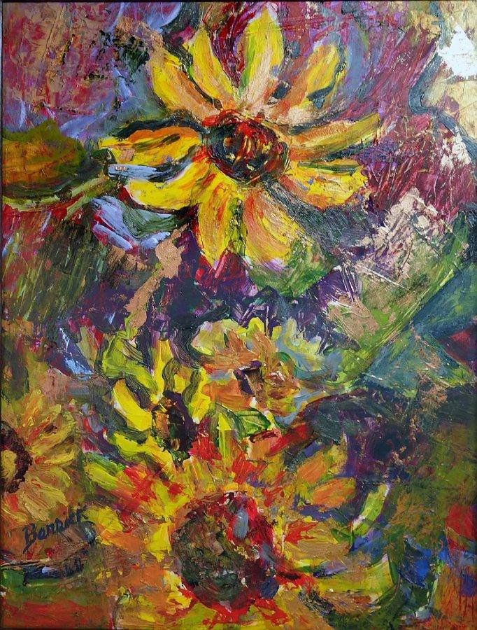 """Sunflowers 2015"", Mixed media"