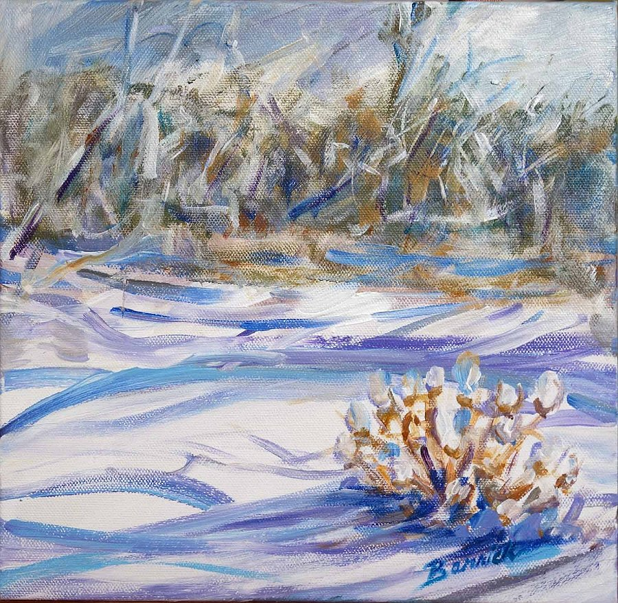 """""""Snow Shadows"""", Acrylic on canvas"""