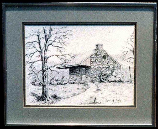 """Spring House"" pencil - 12x15"""