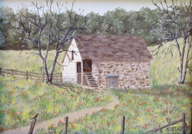 """""""Springhouse in Meadow"""" - 5x7"""""""