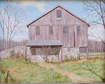 """Swift Run Road Barn II"" - 8x10"""