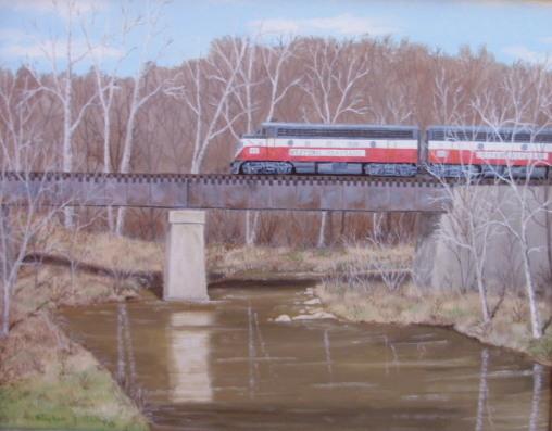 """WM on Marsh Creek Bridge"" - 14x18"""