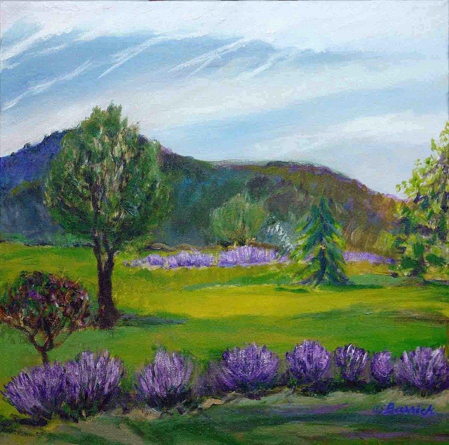 """Willow Pond Herb Farm"" Acrylic on canvas"
