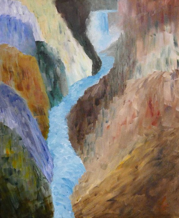 """Yellowstone River"", Oil, 16x20"