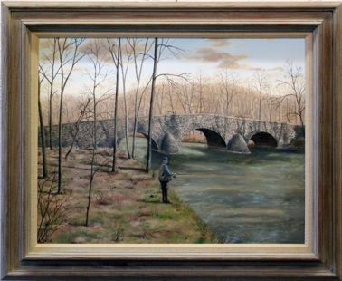"""""""Hay's Fording Bridge"""" - 25x30"""""""