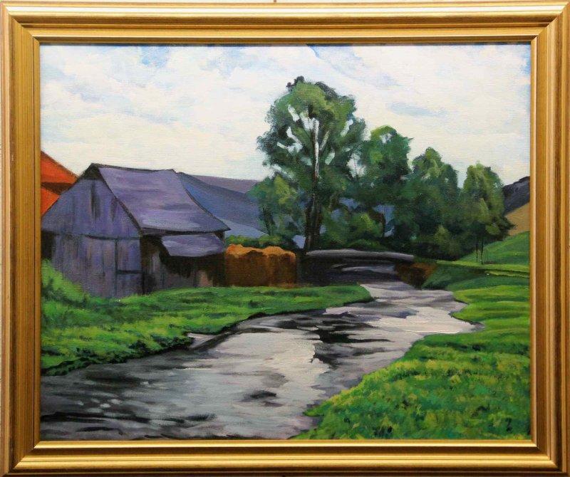 """Barn and Creek"""