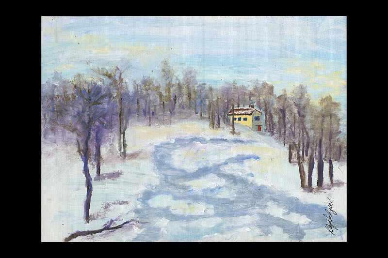 """""""Home in Winter Woods II"""""""