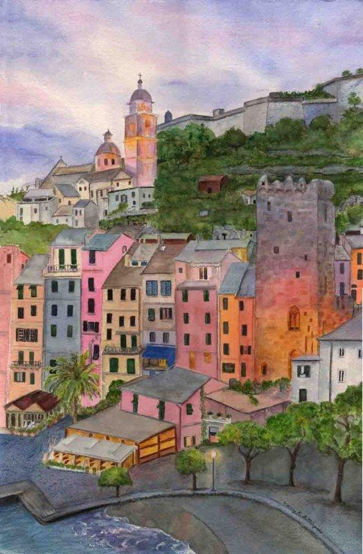"""Italian Village by Twilight"""