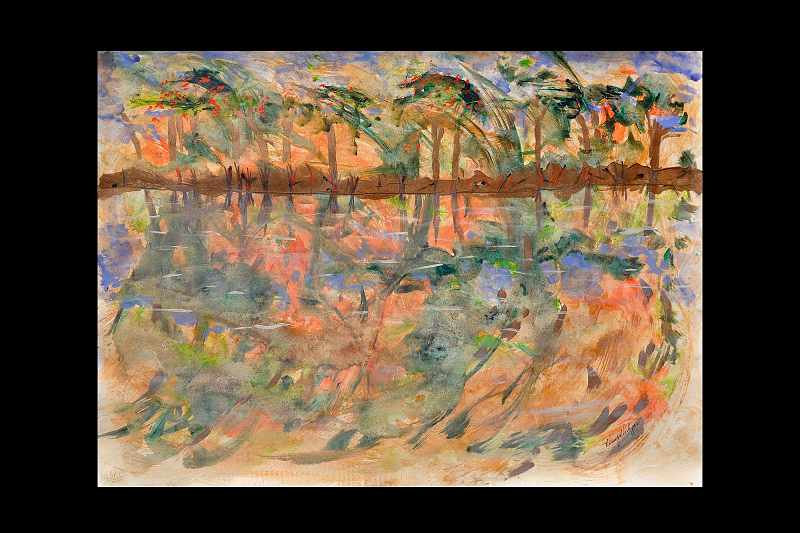 """Lakeside Early Fall"""