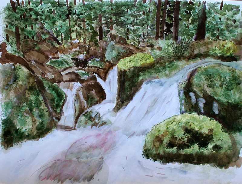 """Mountain Stream in Kyoto"""