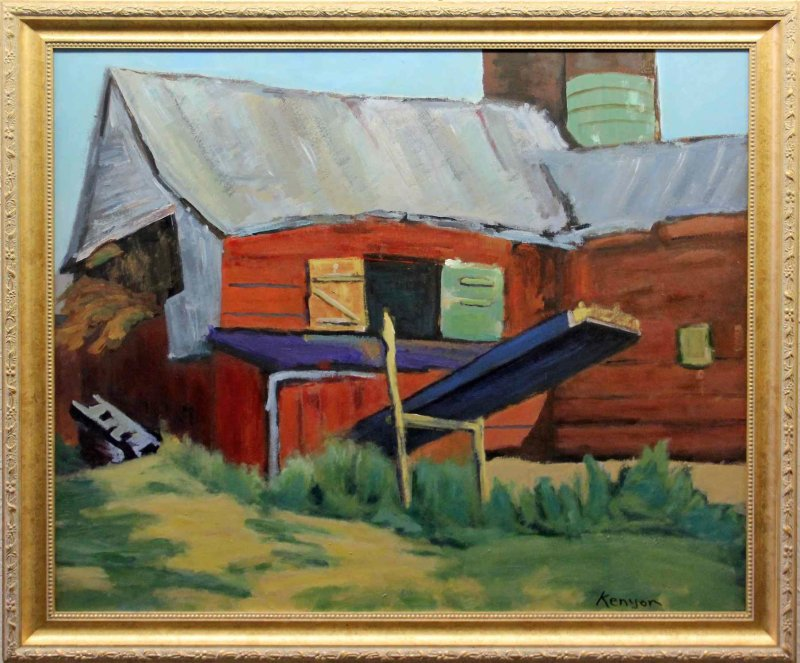 """""""Red Barn with Loader"""""""