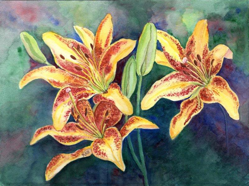 """Yellow Lilies"""