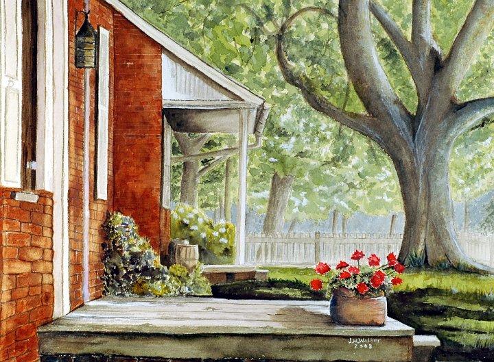 """""""Back Porch Geraniums"""""""
