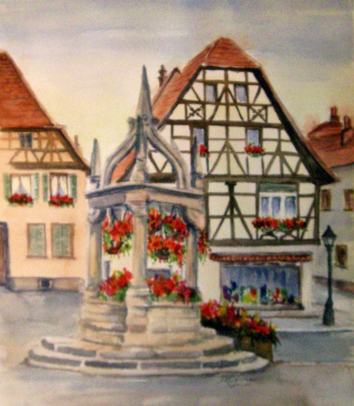 """""""French Village Well"""""""