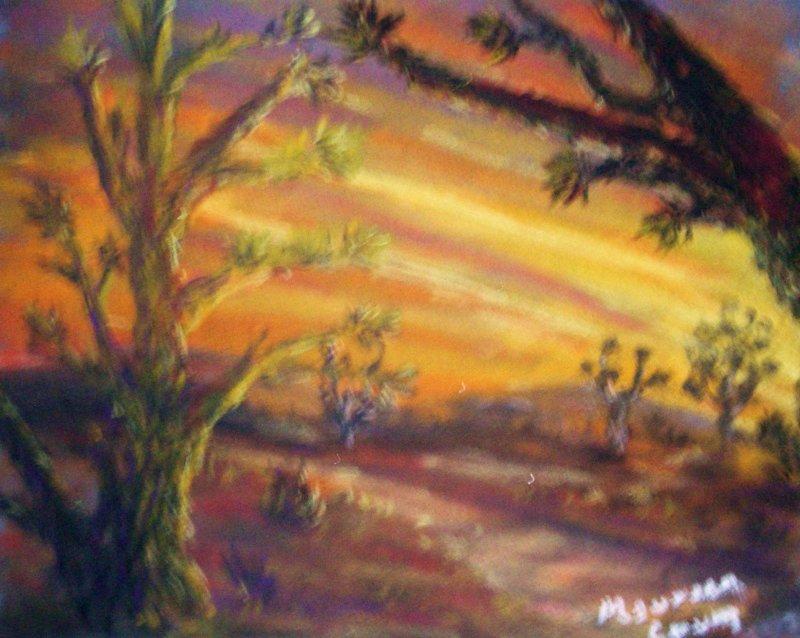 """Joshua Trees at Sunset"""