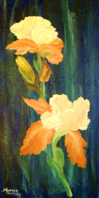 """""""Orange and Cream Iris"""""""