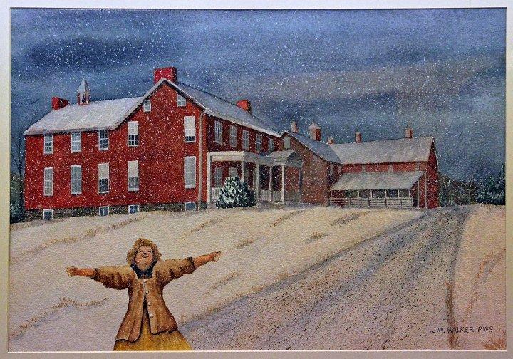 """Snow on Cashtown Road"""