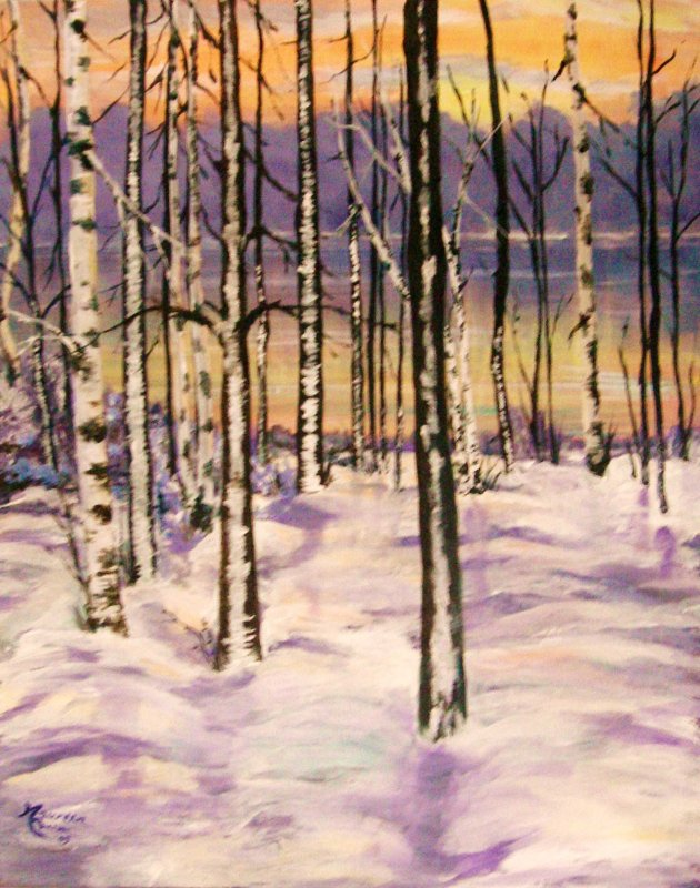 """Snowy Sunset"""