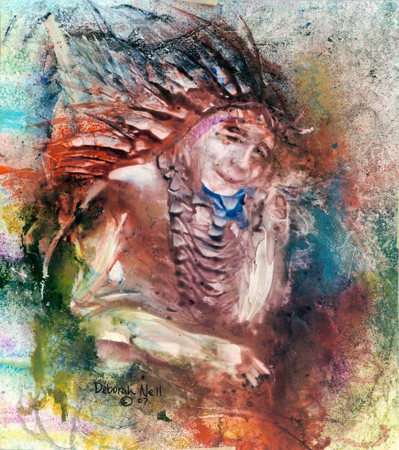 """Wise Warrior"" 20x24"" Framed Original $350, Print $60"