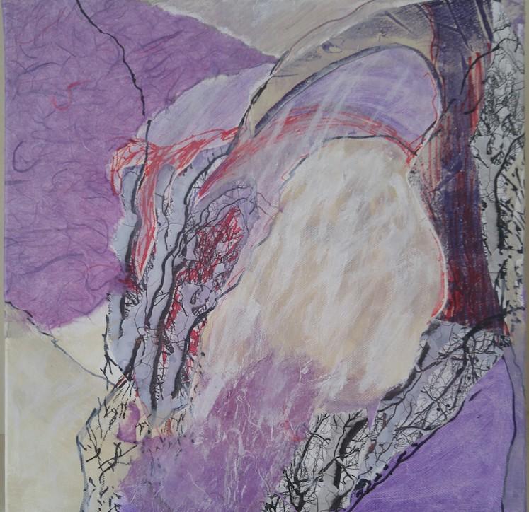 """Singing My Song"", Mixed Media/Canvas, 10x10"