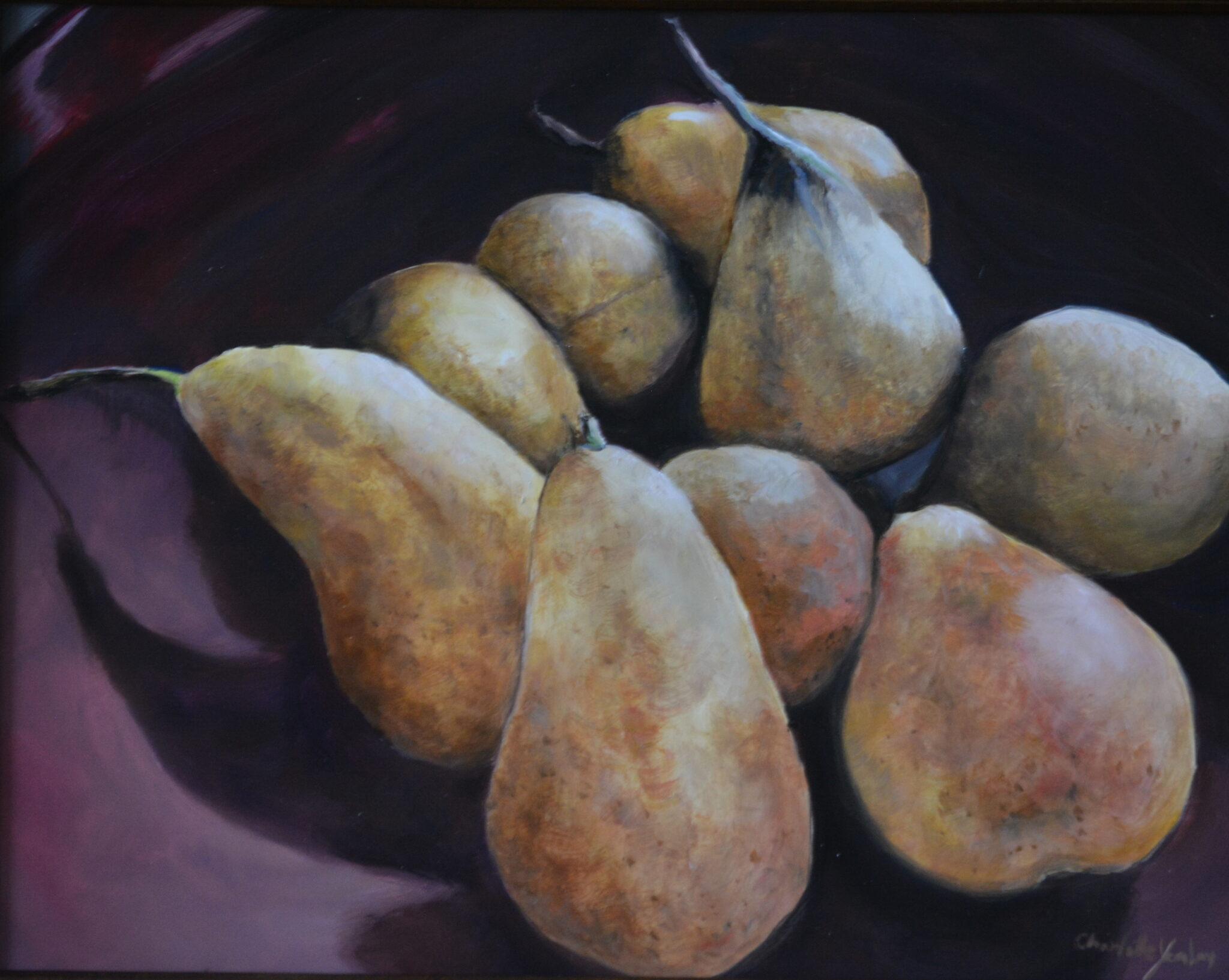 "Charlotte Yealey #39 ""Organic Pears"" $250.00"