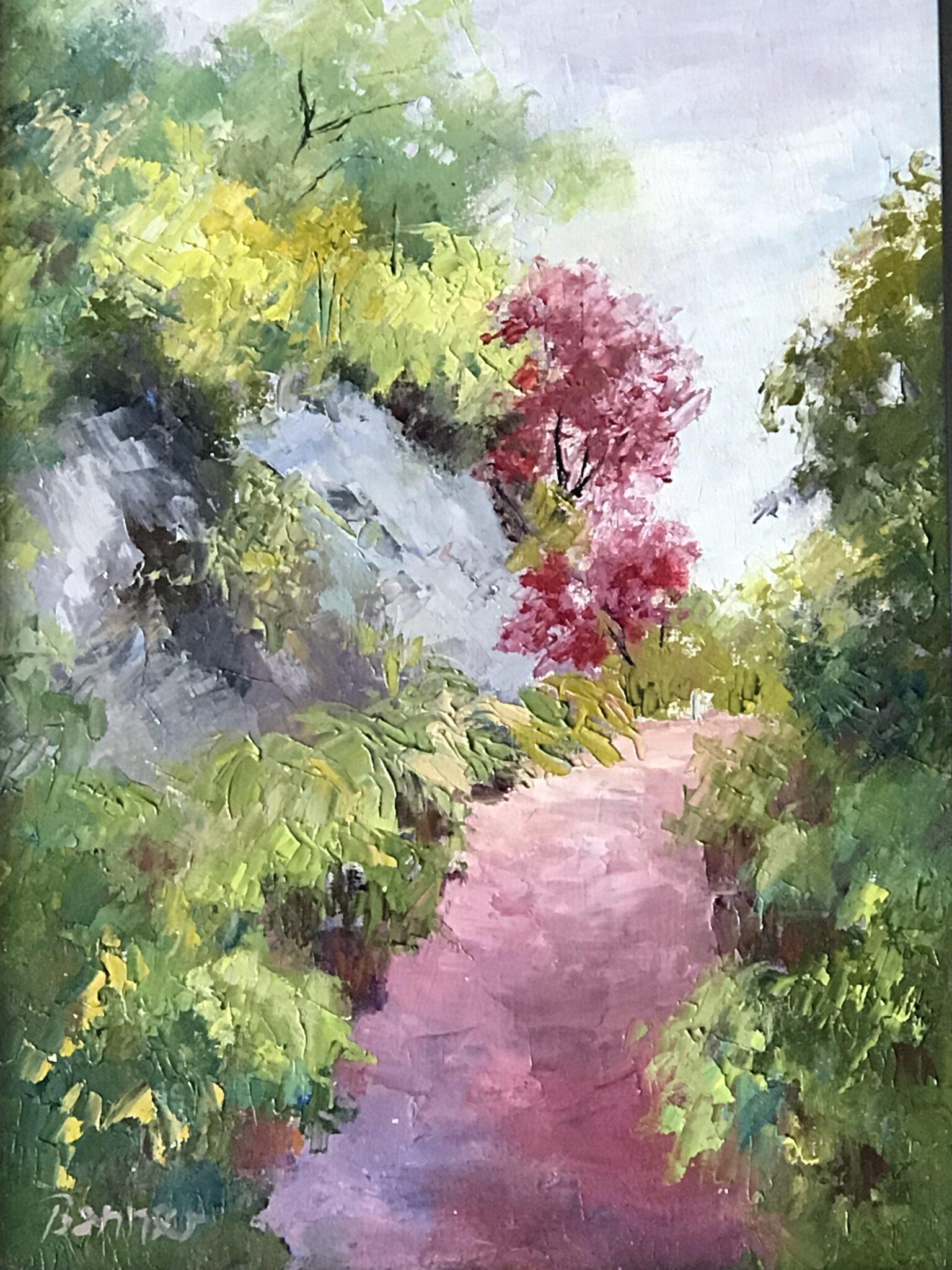 """Sharon Benner #42  """"Hosta Trail""""  $125"""