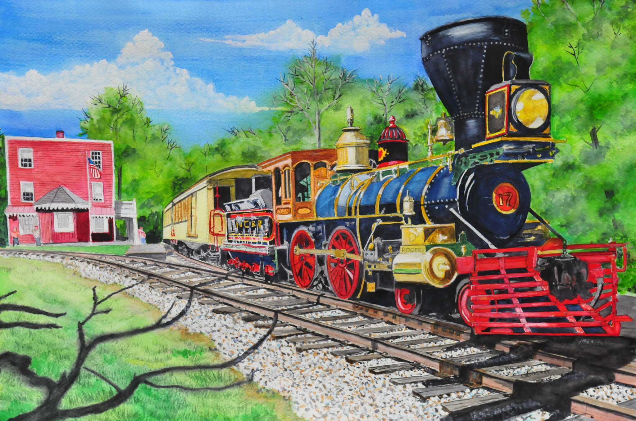 "John W Walker #23 ""Stop at Hanover Junction"" $600.00"