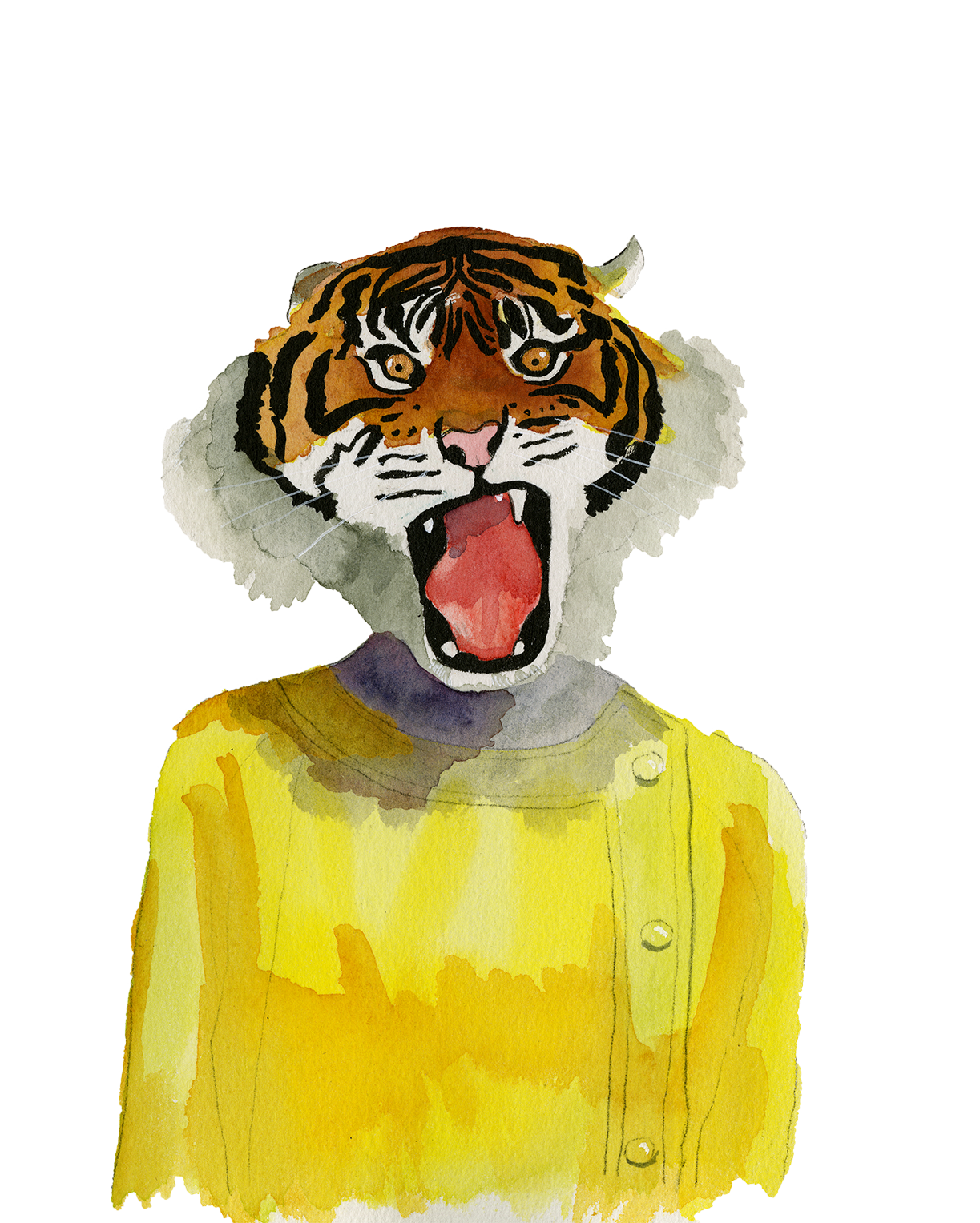 Tiger in Yellow