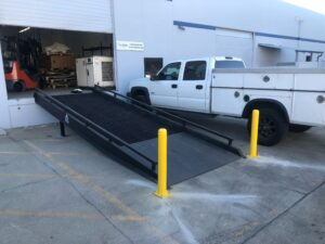 fixed ramp with bollards