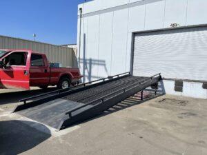 Forklift Ramp w/ Concrete pour on legs