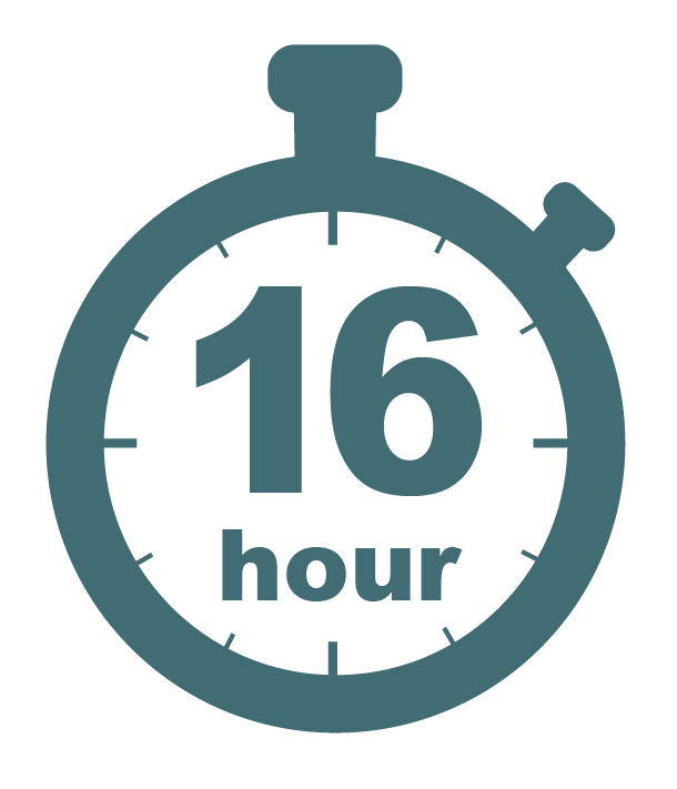 Sixteen hour stopwatch