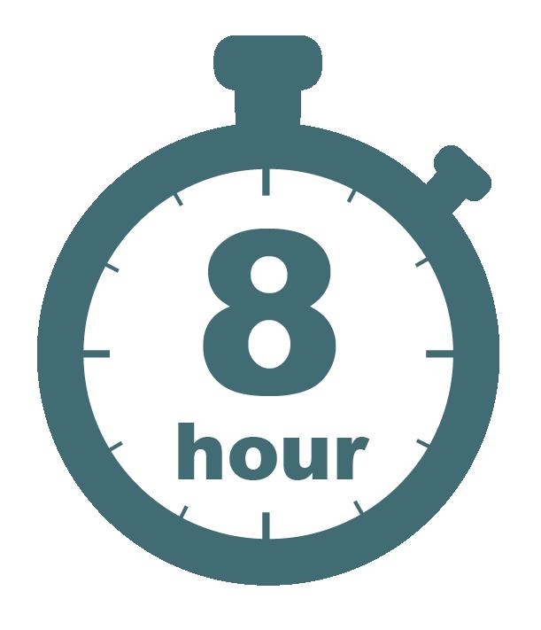 Eight hour stopwatch