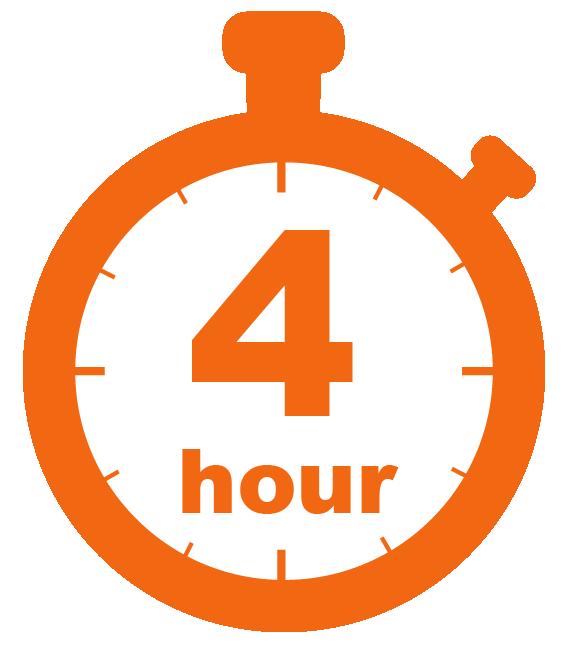 Four hour stopwatch