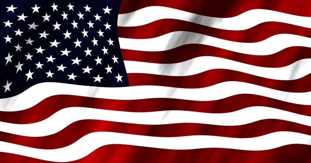 flag, blow, wind