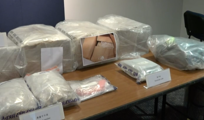 Four arrested as Hong Kong police smash crack cocaine lab in largest seizure of raw drug materials in 10 years