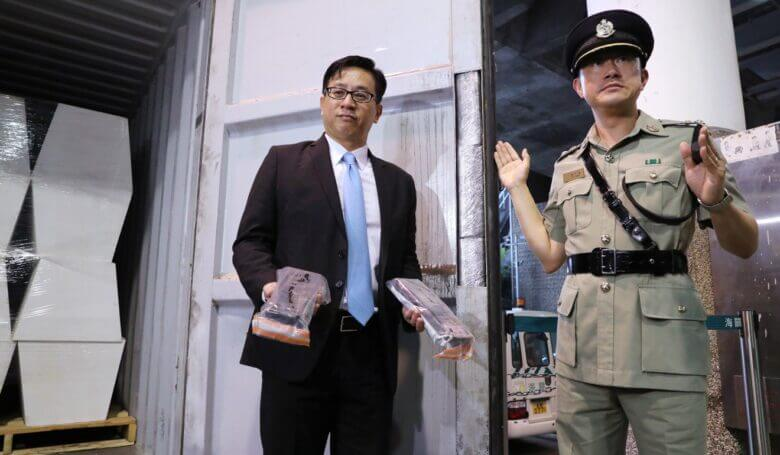 Hong Kong customs seize HK$30 million worth of cocaine stashed in rims of container doors, admit smuggling problem is worsening