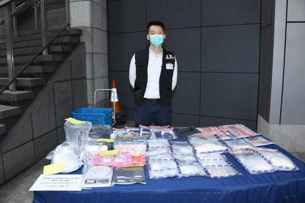 Three foreign men nabbed over HK$ 3.4m drugs