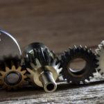 Metallic Gears and Cogwheels