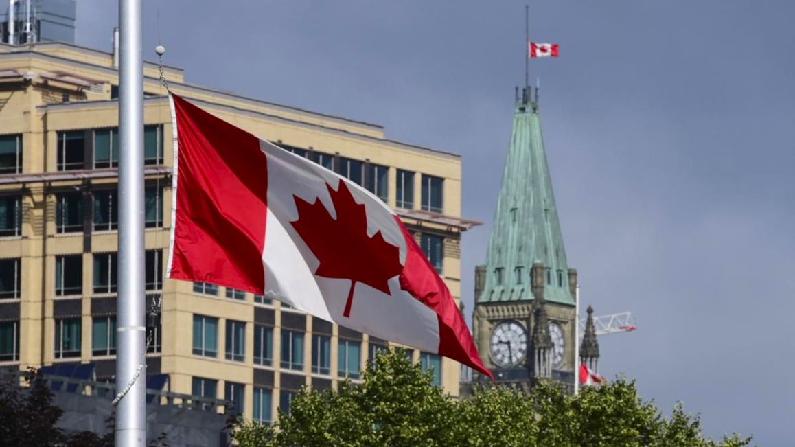 Canada Flag Half-Mast Elect Conservatives