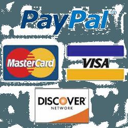 Accept Visa Mastercard Discover Paypal