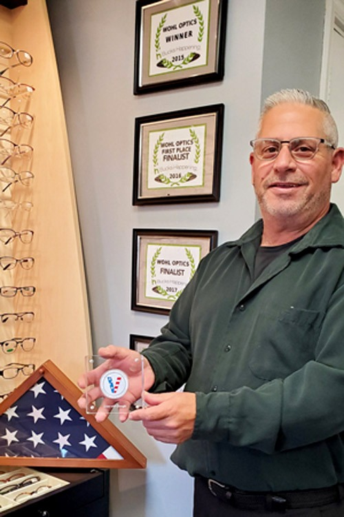 Doug Wohl Optician Veteran-owned Small Business Optical Lab